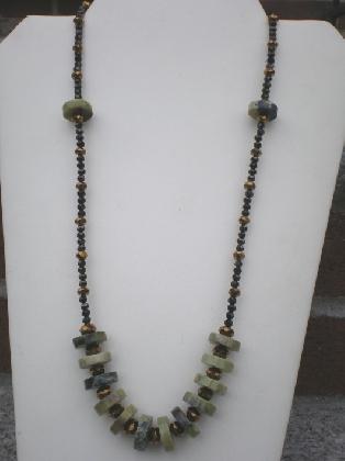 Jasper stone necklace set