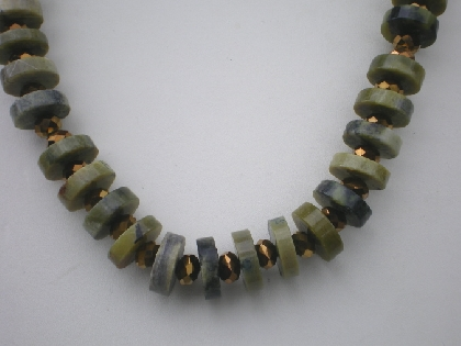 Thunder Polished copper and stone necklace