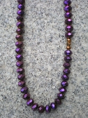Purple and Bronze beaded necklace