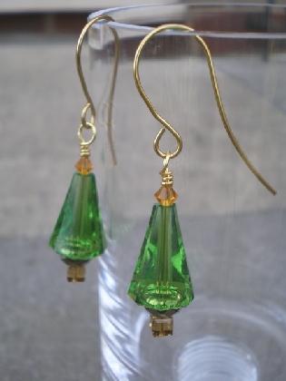 Artemis Christmas Tree Earrings