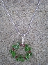 Christmas Wreath Pendant Necklace