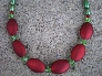 Acrylic And Pearl Beaded Necklace Set
