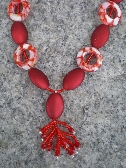 Red Resin And Acrylic Necklace