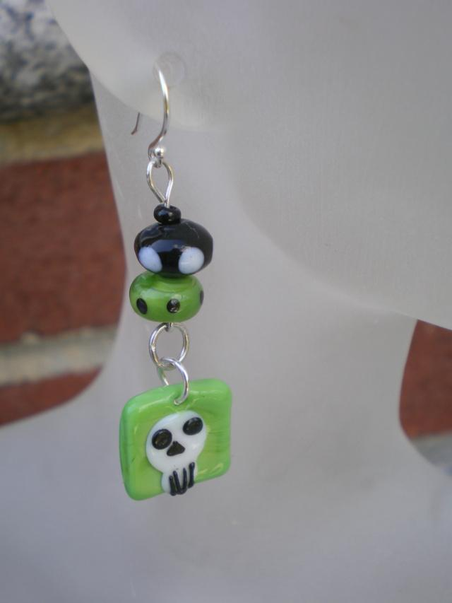 Skull Charm Earrings