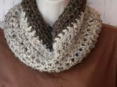 Wool blend cowl neckwarmer Oatmeal Barley