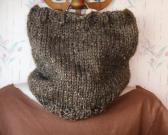 knit wool blend cowl