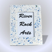 Blue and White 4 x 6 Ceramic Picture Frame