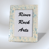 Aqua Marble Look 5 x 7 Ceramic Picture Frame