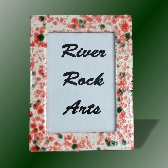 Christmas Red Green and White 5 x 7 Ceramic Picture Frame