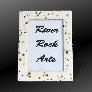 Gold Black and White 5 x 7 Ceramic Picture Frame