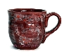 Large Ceramic Mug Cherry Vanilla Red and White
