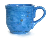 Large Ocean Blue Ceramic Mug
