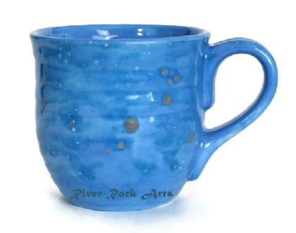 Large Ocean Blue Ceramic Mug