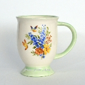 Ceramic Mug Footed Spring Bouquet