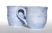 Large Ceramic Mugs Lavender Blue Set of Two