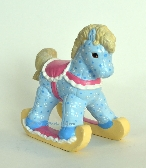 Blue Ceramic Rocking Horse