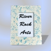 Aqua Marble Look 4 x 6 Ceramic Picture Frame