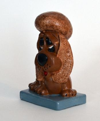 Brown Sad Eyed Ceramic Dog