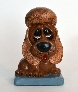 Brown Sad Eyed Ceramic Dog