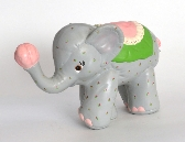 Ceramic Soft Sculpure Look Circus Elephant