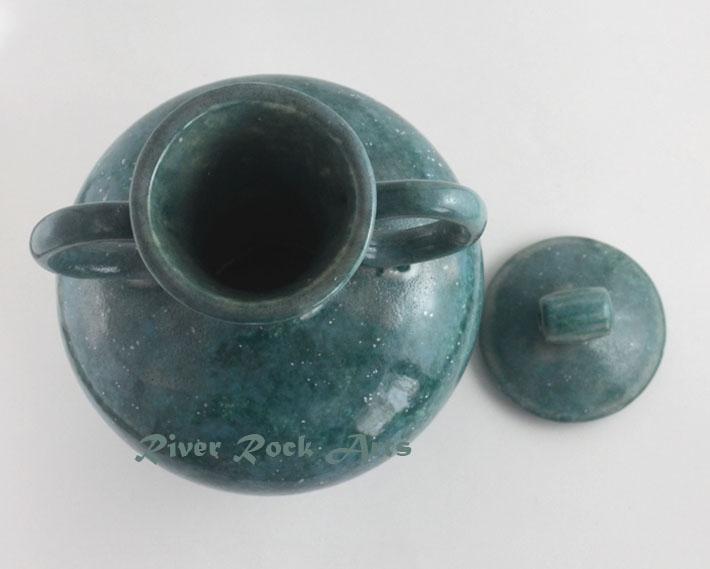 Turquoise Granite Look Ceramic Tuscan Vase