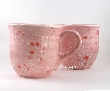Large Cotton Candy Pink Ceramic Mugs Set of 2