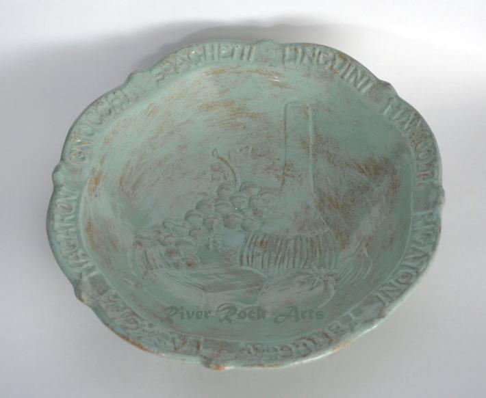 Large Seafoam Green Ceramic Pasta Bowl