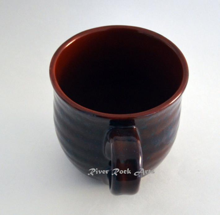 Large Blue Spiced Terra Cotta Ceramic Mug