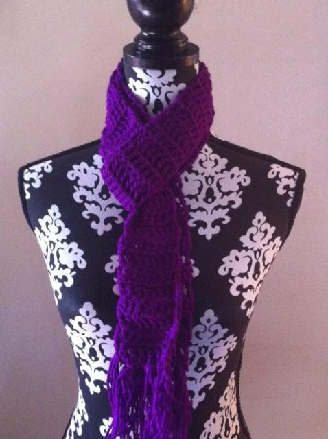Childrens Neon Purple Scarf