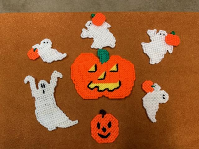 Ghost and Pumpkins Magnets