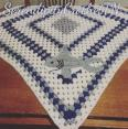 crocheted shark baby blanket FREE SHIPPING