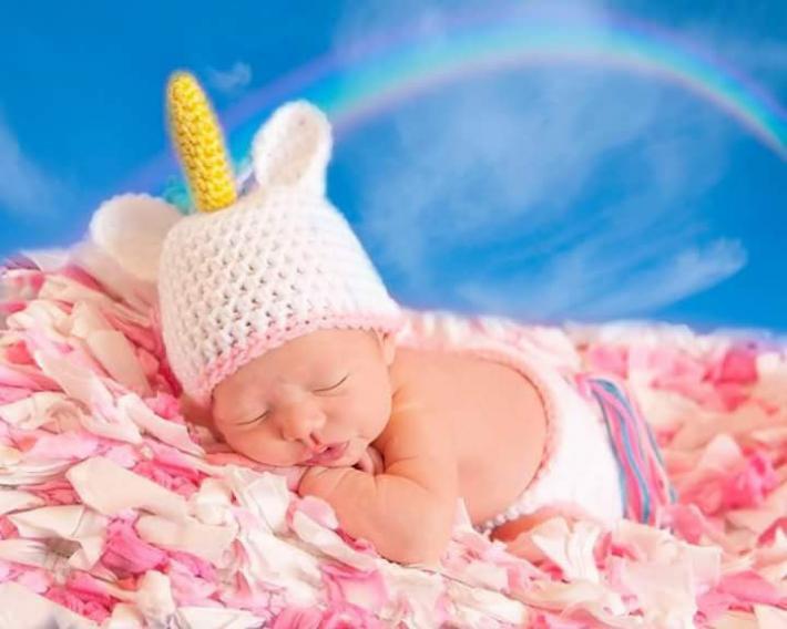 baby unicorn photo prop FREE SHIPPING