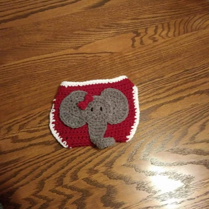 elephant diaper cover fits 0 to 3 months