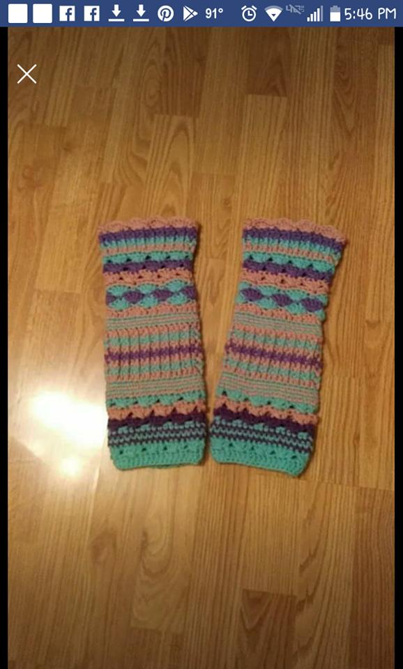 crocheted adult leg warmers FREE SHIPPING