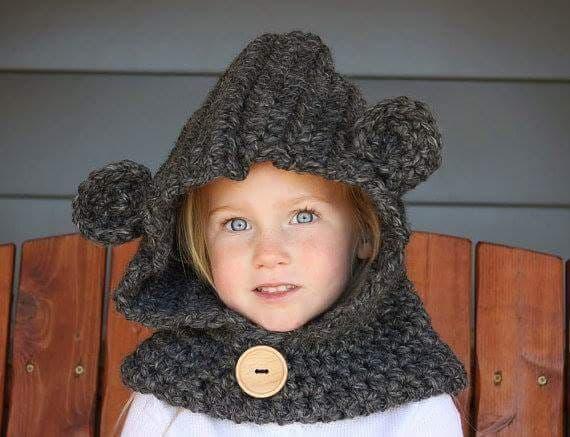 crocheted bear hoodie FREE SHIPPING