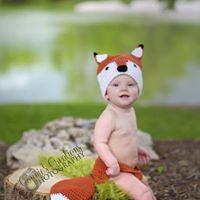 crochet baby fox photo prop FREE SHIPPING
