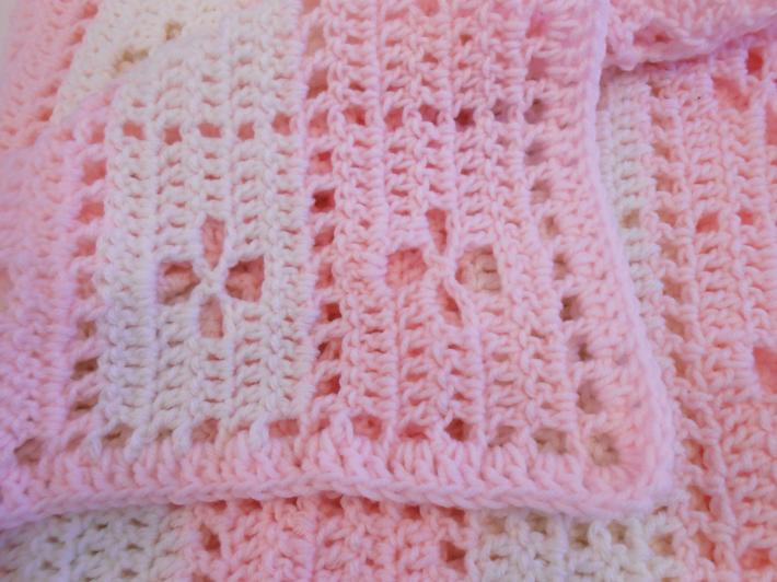 Pink and White Butterfly Receiving Blanket