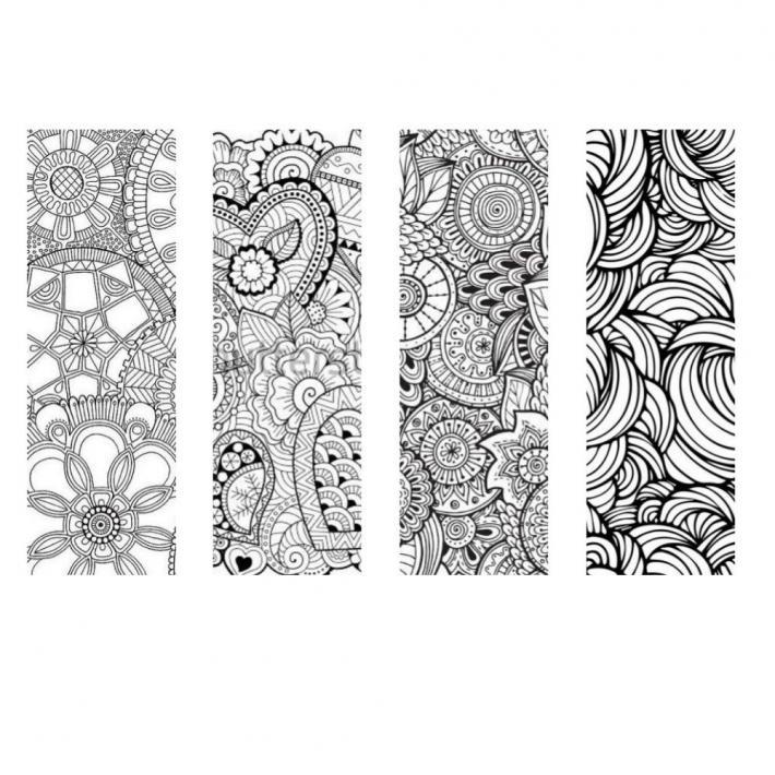 Pattern Coloring Bookmarks Set 3