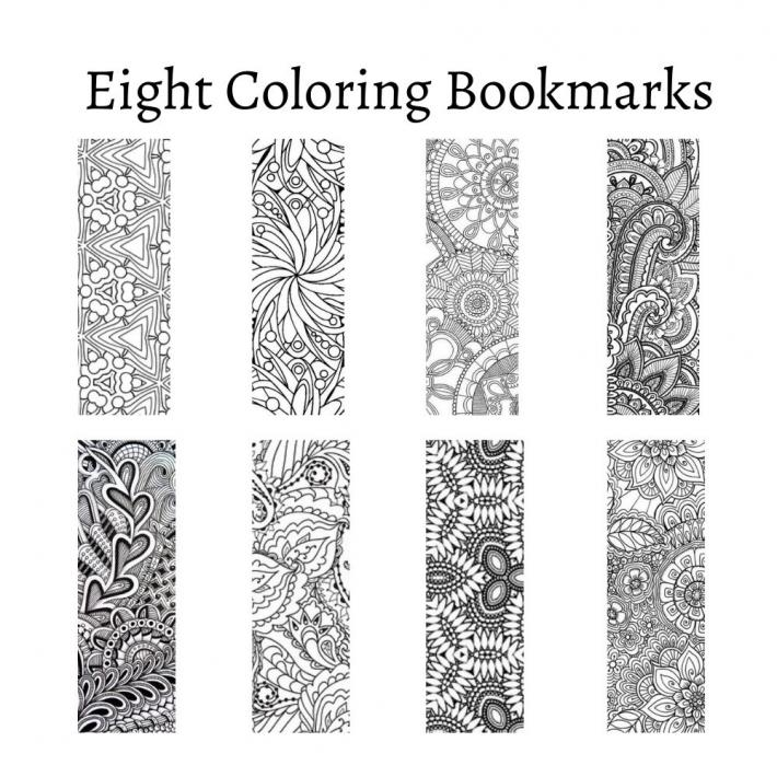 Pattern Coloring Bookmarks Set 4