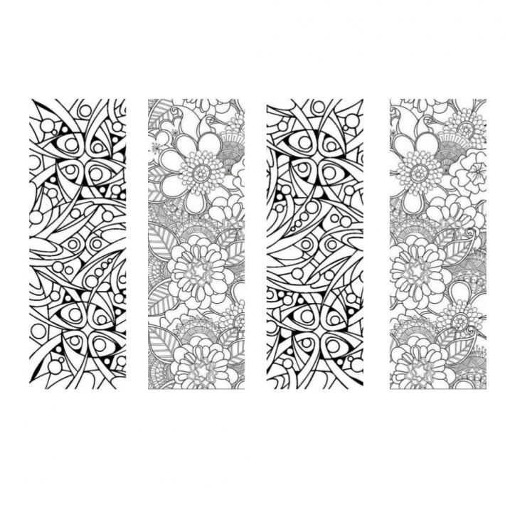 Pattern Coloring Bookmarks Set 5