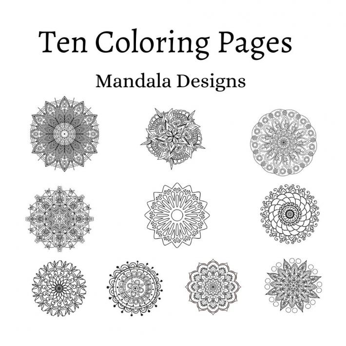 Adult Coloring Pages Set 1