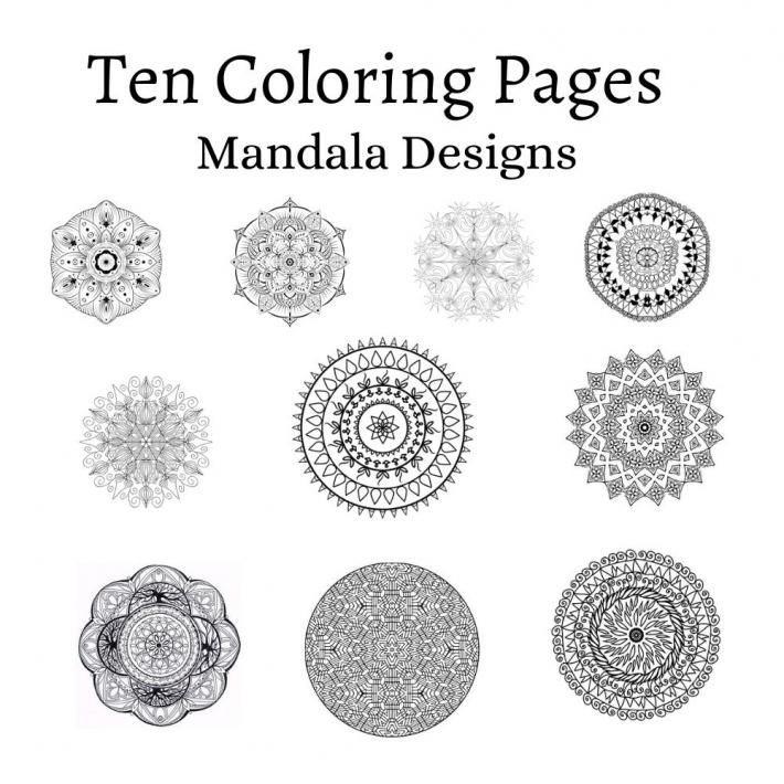 Adult Coloring Pages Set 7