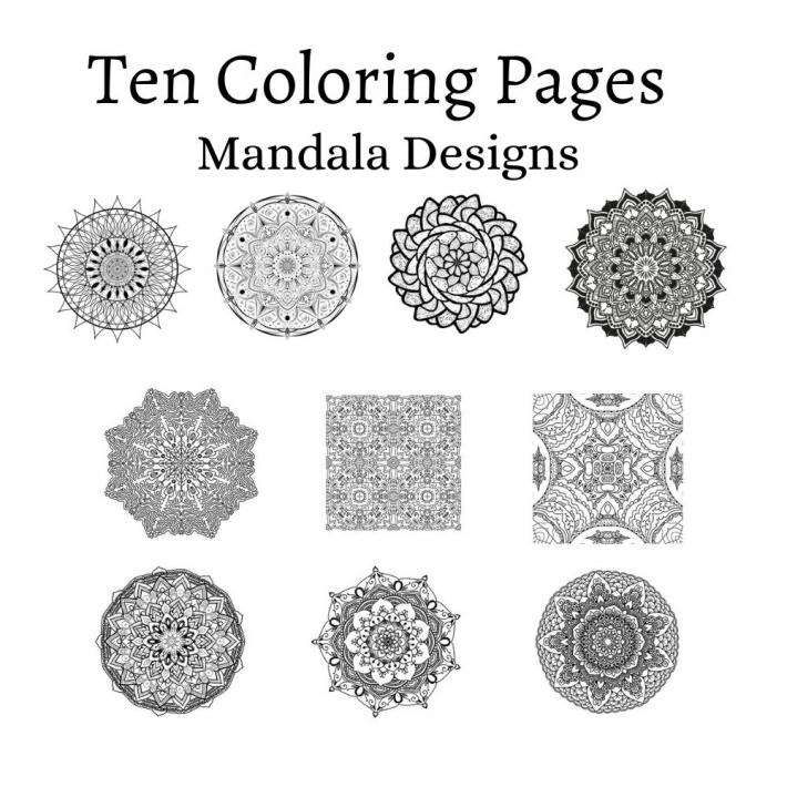 Adult Coloring Pages Set 10