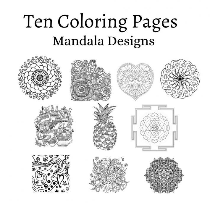 Adult Coloring Pages Set 17
