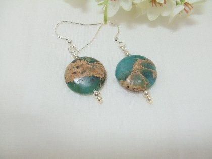 Water and Earth Jasper Earrings