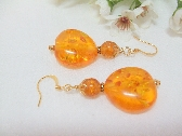 Golden Amber Nugget Earrings was 18 now 15