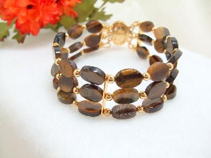 Tiger Eye Triple Strand bracelet