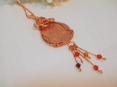 Wire Wrapped British Two Pence Coin necklace