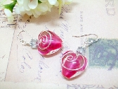 Siam Hearts Sterling Silver Earrings