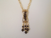 Chocolate Drops Crystal Necklace